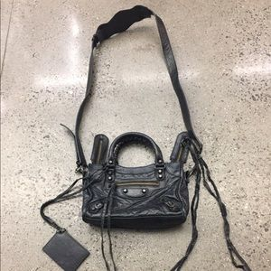 Authentic Balenciaga mini city leather crossbody